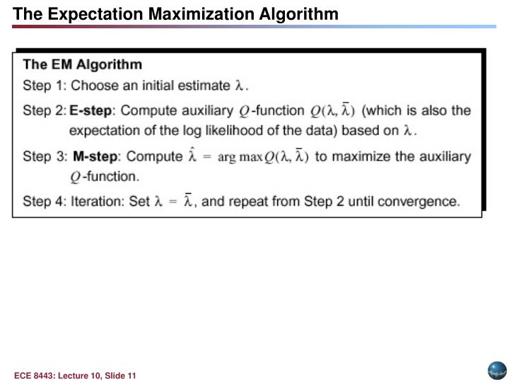 The Expectation Maximization Algorithm