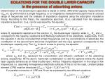equations for the double layer capacity in the presence of adsorbing anions