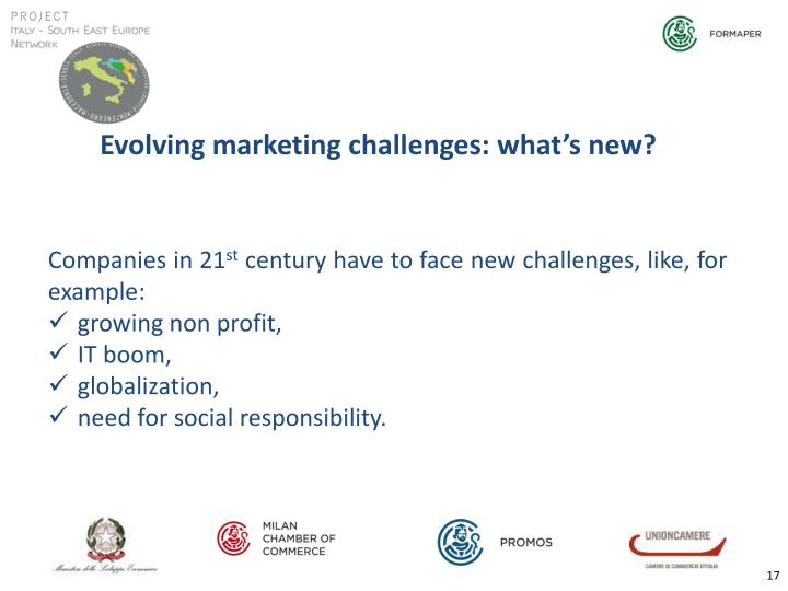 Evolving marketing challenges: what