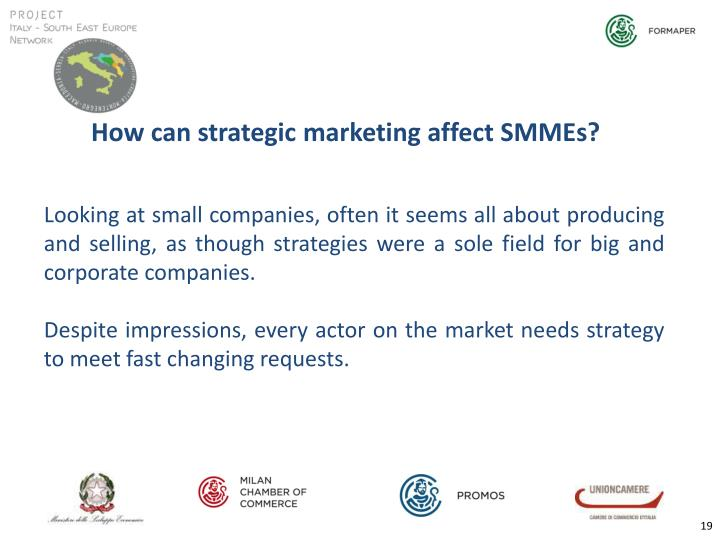 How can strategic marketing affect SMMEs?