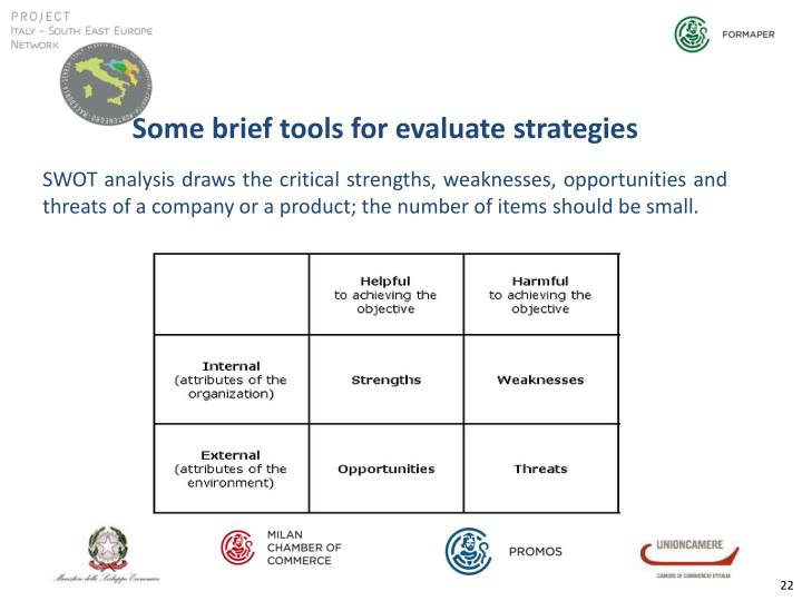 Some brief tools for evaluate strategies