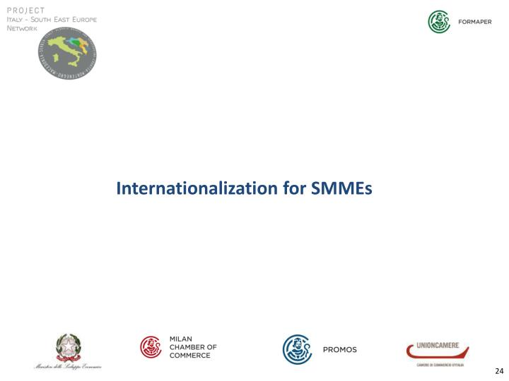 Internationalization for SMMEs