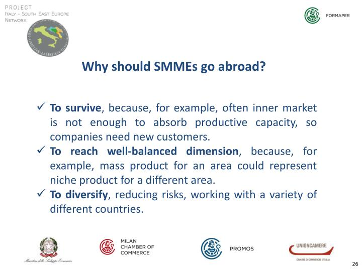 Why should SMMEs go abroad?