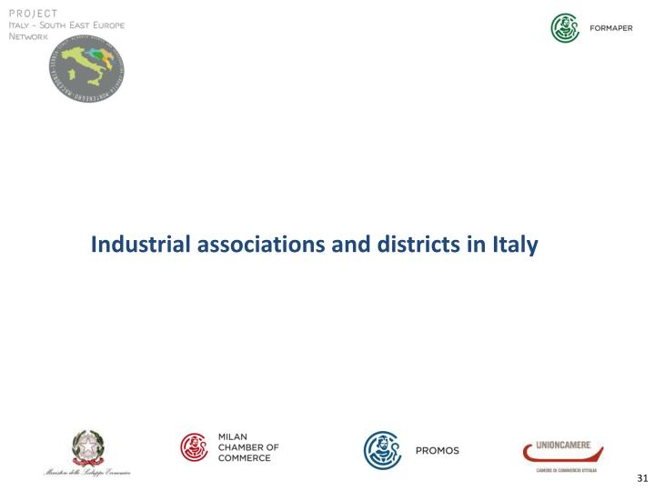 Industrial associations and districts in Italy