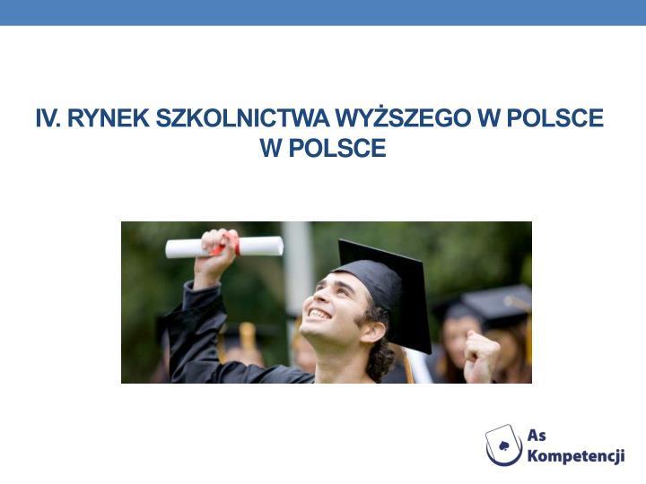 IV. Rynek szkolnictwa wyższego w Polsce
