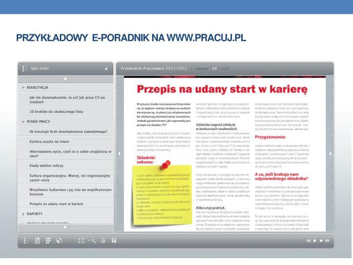 Przykadowy  e-poradnik na www.pracuj.pl