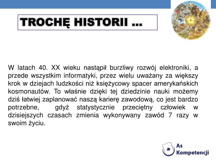 TROCHĘ HISTORII …