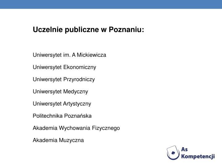Uczelnie publiczne w Poznaniu: