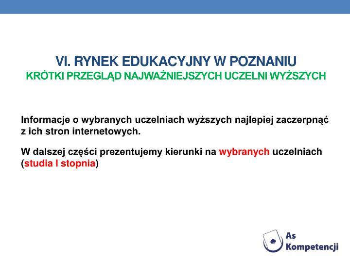 VI. Rynek edukacyjny w poznaniu