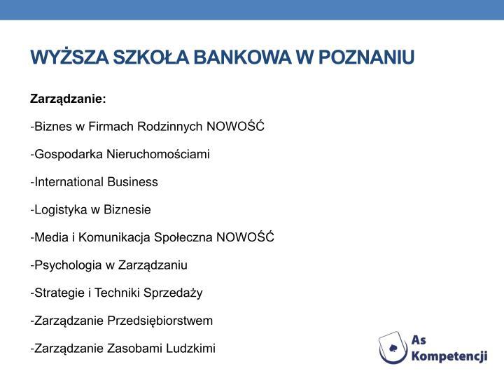 Wysza Szkoa Bankowa w Poznaniu