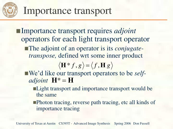 Importance transport