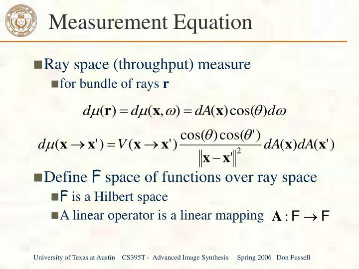 Measurement Equation