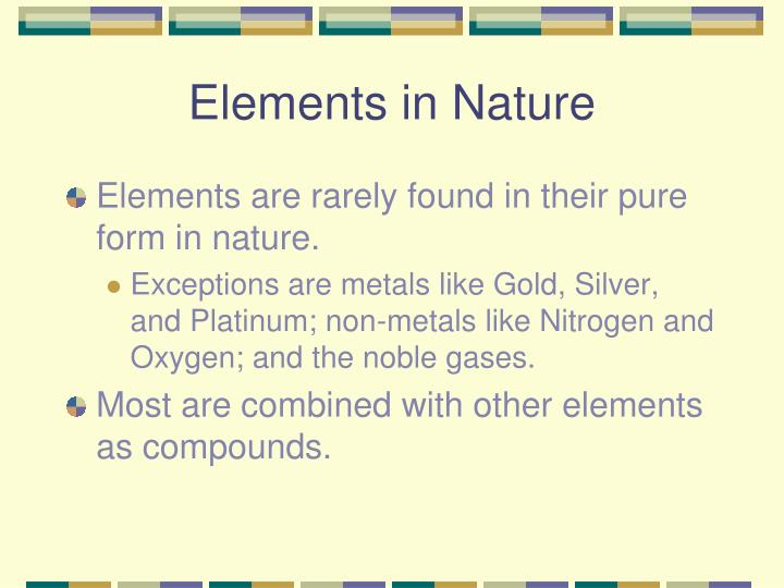 Elements in Nature