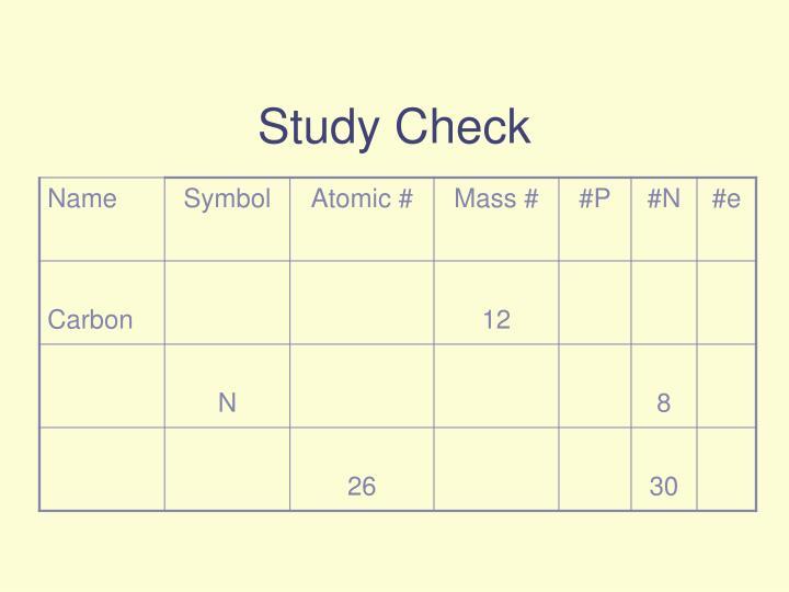Study Check