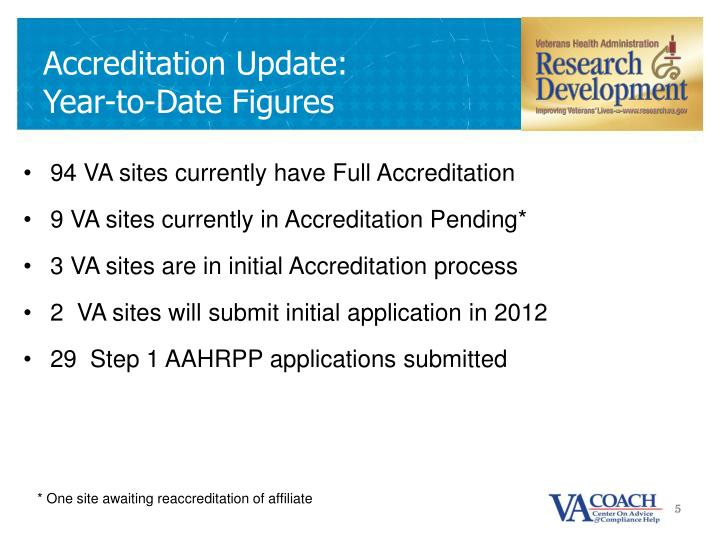 Accreditation Update:
