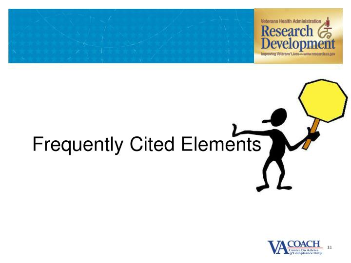 Frequently Cited Elements