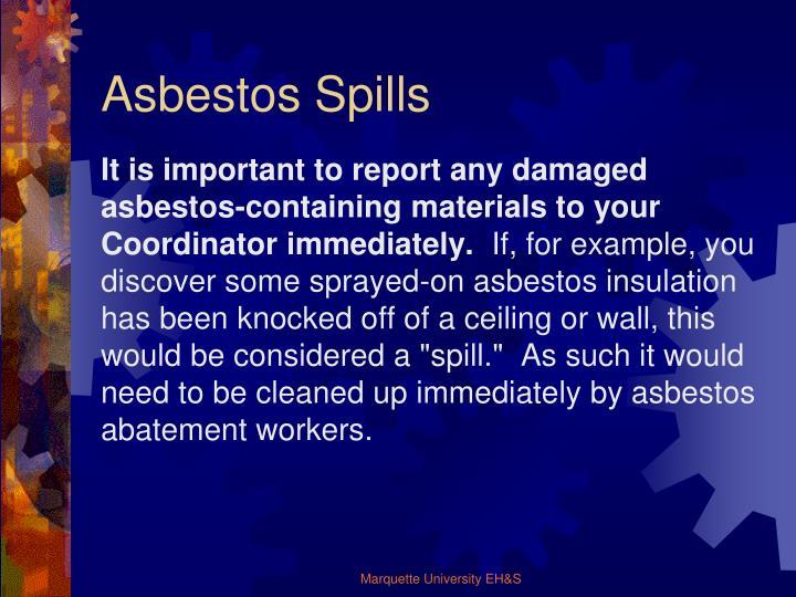 Asbestos Spills