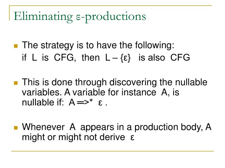 Eliminating ε-productions