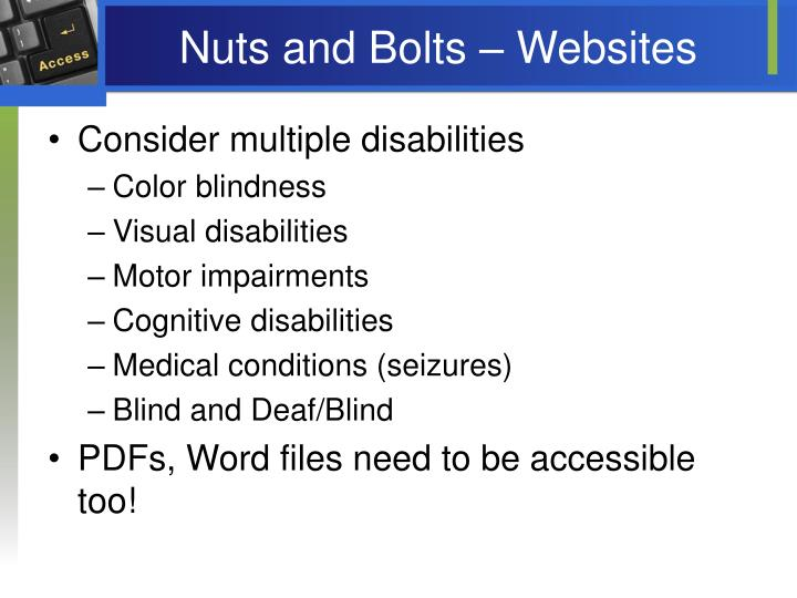 Nuts and Bolts – Websites
