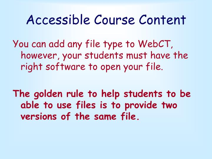 Accessible Course Content