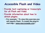 accessible flash and video