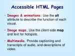 accessible html pages
