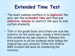extended time test