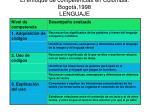 el enfoque de competencias en colombia bogot 1998 lenguaje