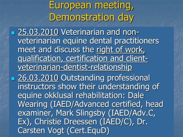 European meeting,