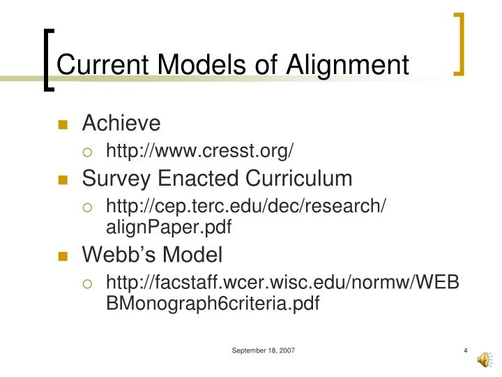 Current Models of Alignment