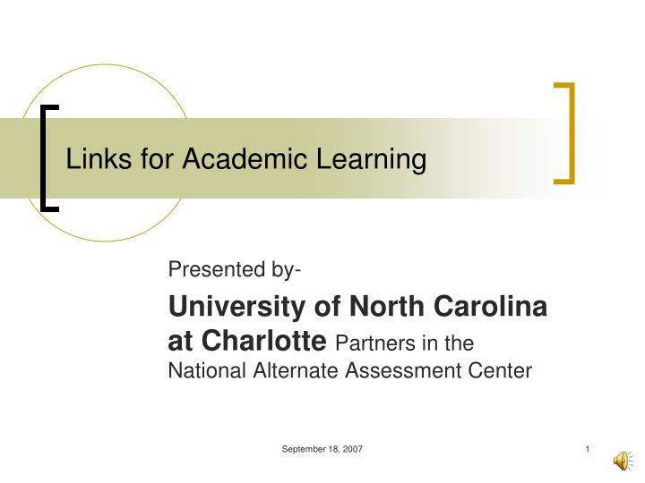 links for academic learning