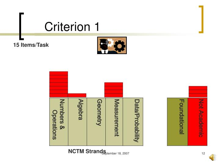 Criterion 1