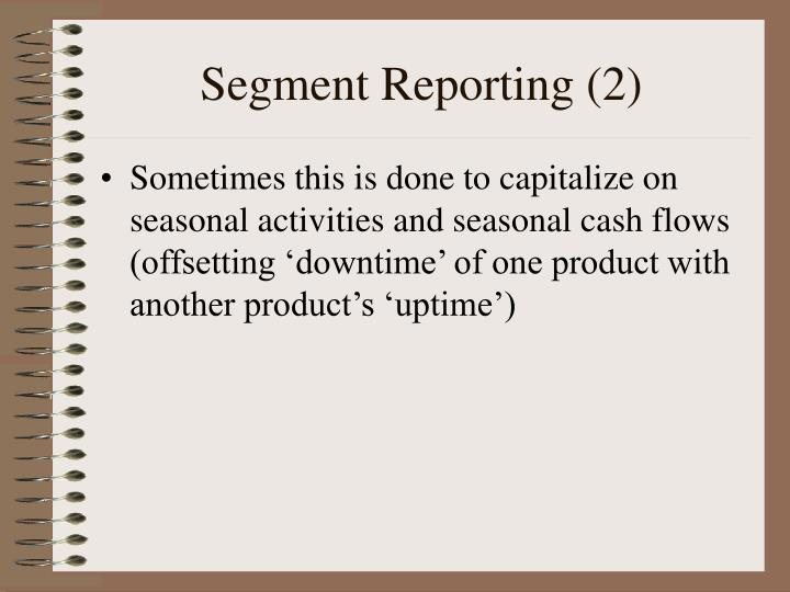segment reproting Powersecure is undoubtedly an extreme example nevertheless, in light of the sec's increasing scrutiny over segment reporting, powersecure's case may serve as an alert for preparers and auditors to reassess the design and operation of internal control over the segment reporting judgments.