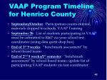 vaap program timeline for henrico county