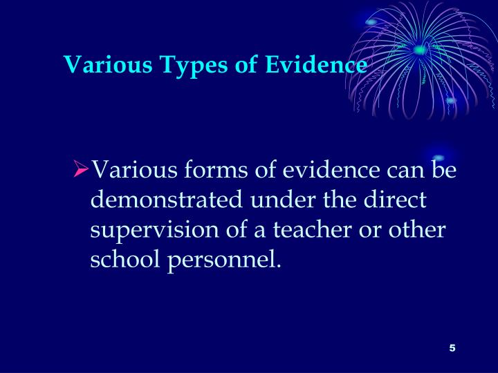 Various Types of Evidence