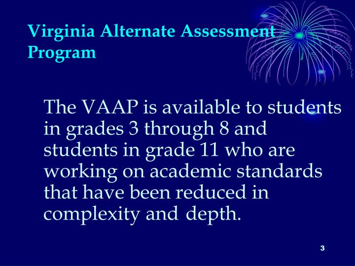 Virginia alternate assessment program1