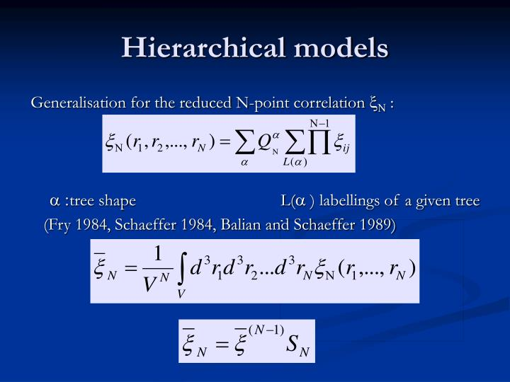 Hierarchical models