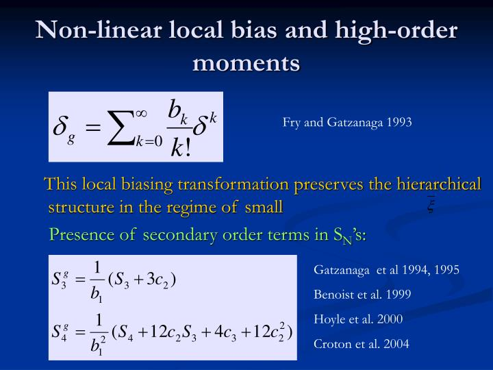 Non-linear local bias and high-order moments