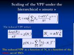 scaling of the vpf under the hierarchical ansatz