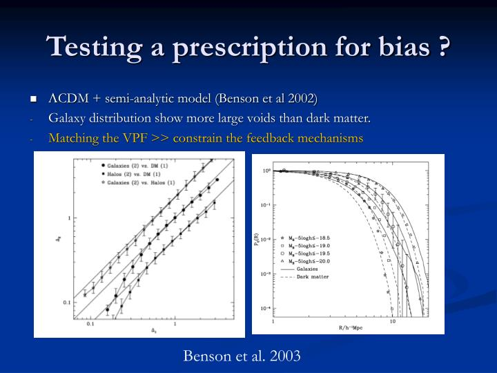 Testing a prescription for bias ?