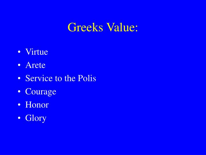 Greeks Value: