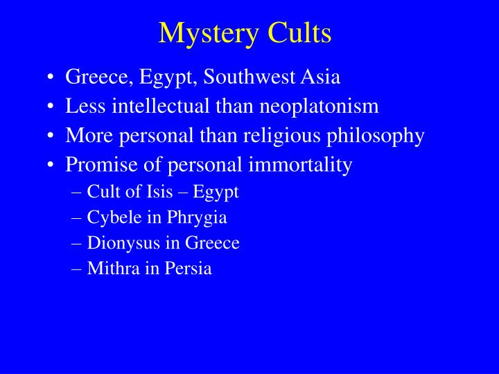 Mystery Cults