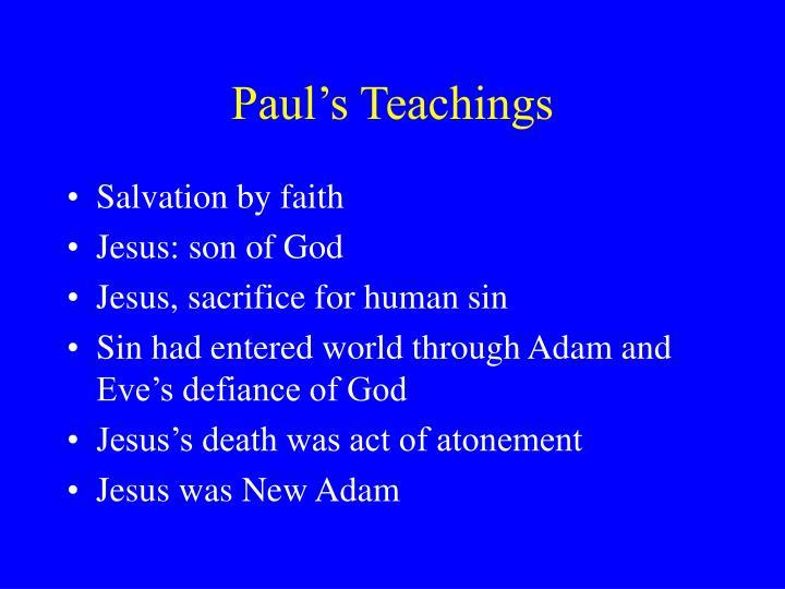 Paul's Teachings