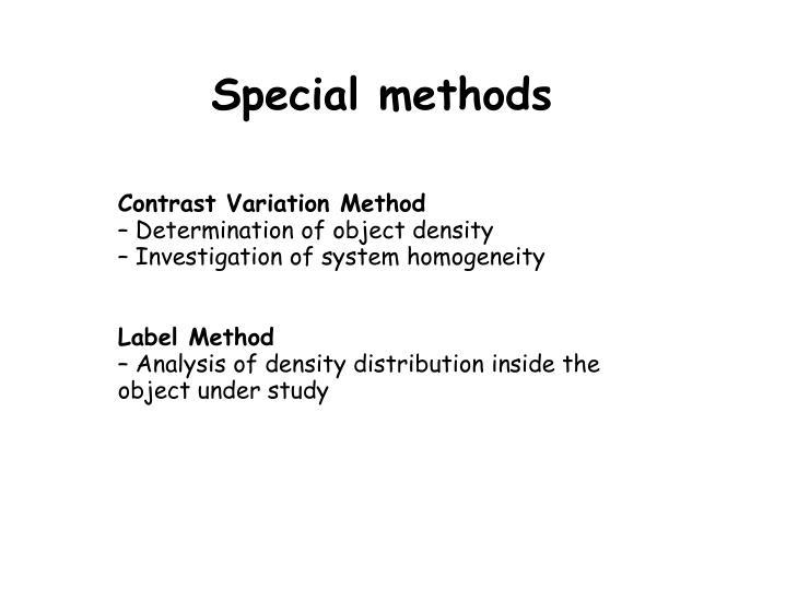 Special methods