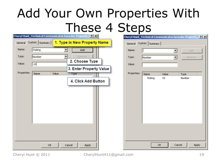 Add Your Own Properties With