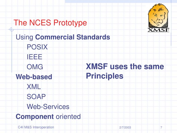 The NCES Prototype