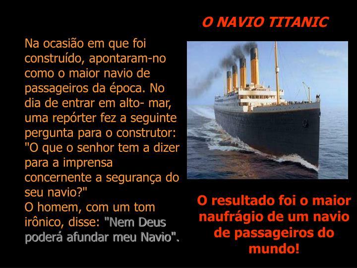 O NAVIO TITANIC