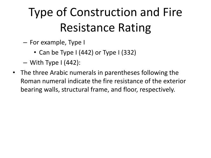 Fire Resistance Rating : Ppt building construction powerpoint presentation id