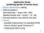 application study predicting gender of human faces
