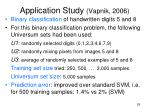 application study vapnik 2006